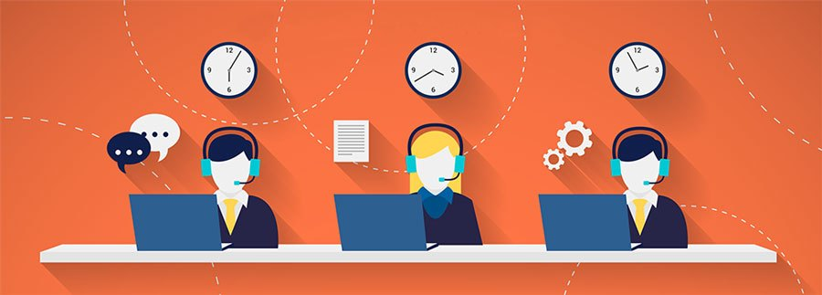 blended call center article
